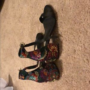 Black unique steve madden shoes